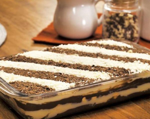 Receta para pastel de galletas de maicena congelado - tipo pavé