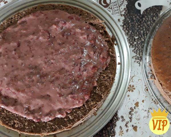 Receta de pastel de chocolate relleno con leche condensada - Paso 7