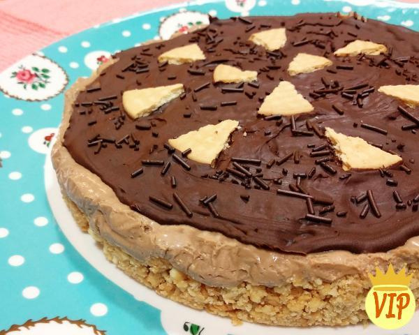 Pastel de chocolate helado con receta de galletas