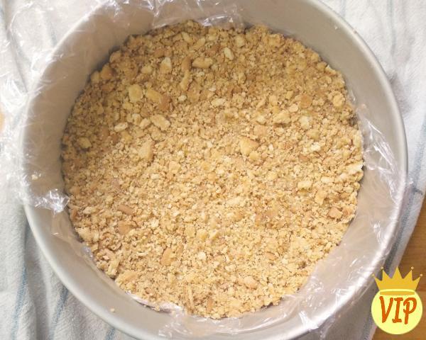 Receta para pastel de chocolate frío con galleta - Paso 1